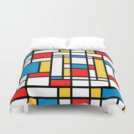 Tribute to Mondrian No2 Duvet Cover