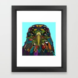 American Eagle blue Framed Art Print
