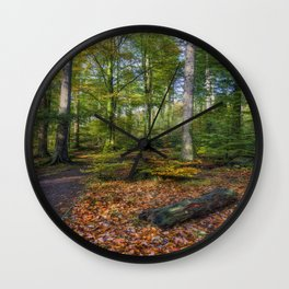 Autumn Forest Wall Clock