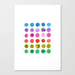 Rainbow Watercolor Canvas Print