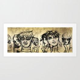 Factory Girl Art Print