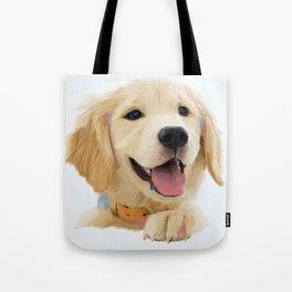 Golden Retriever Pup Tote Bag