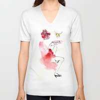 reading V-neck T-shirts featuring Reading by Hyegallery