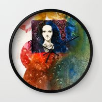 lucy Wall Clocks featuring Lucy by Ecsentrik
