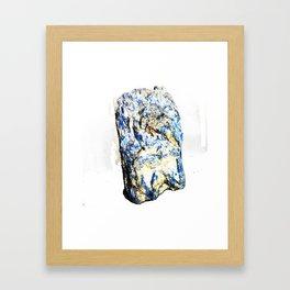 Kyanite crystall Gemstone Framed Art Print