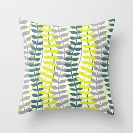 seagrass pattern - teal and lime Throw Pillow