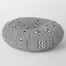 Checkered moire V Floor Pillow