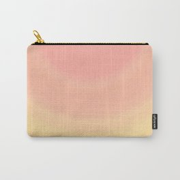 Pastel Millennial Pink Yellow Circle Ombre Gradient Pattern Carry-All Pouch