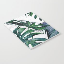Tropical Palm Leaves Classic on Marble Notebook