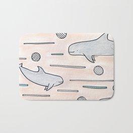 risso's dolphin Bath Mat