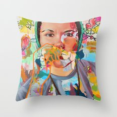 Squirrelfrien Throw Pillow