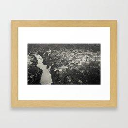 river from above Framed Art Print