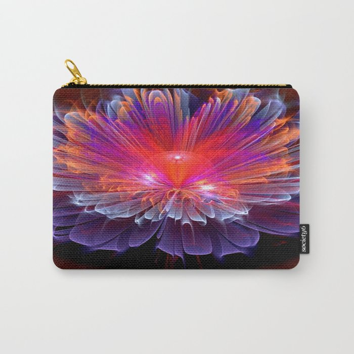 Neon Flower - A Vision all Aglow Carry-All Pouch