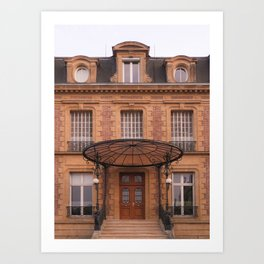 Facade at sunset I Charleville-Mézières, France I European architecture I Street photography Art Print