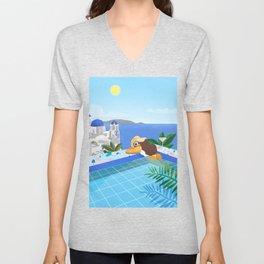 Pool girl Unisex V-Neck