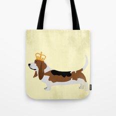 Royal Basset Hound Dog  Tote Bag