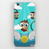 quidditch iPhone & iPod Skins featuring QUIDDITCH by Chris Thompson, ThompsonArts.com