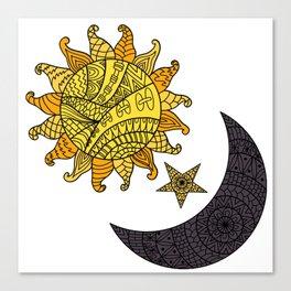 Sun, Star, Moon Canvas Print