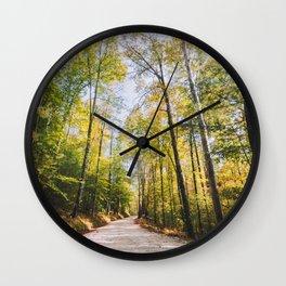 Forest Road - Muir Valley, Kentucky Wall Clock