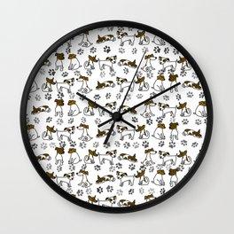 Jack Russell Terrier Dog Cartoon Wall Clock
