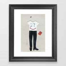 Customer Service Outfit Framed Art Print