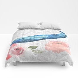 Whale Amongst the Roses Comforters