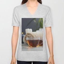 tea and spa composition Unisex V-Neck