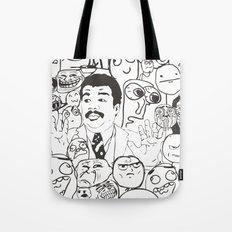 Meme P&B Tote Bag