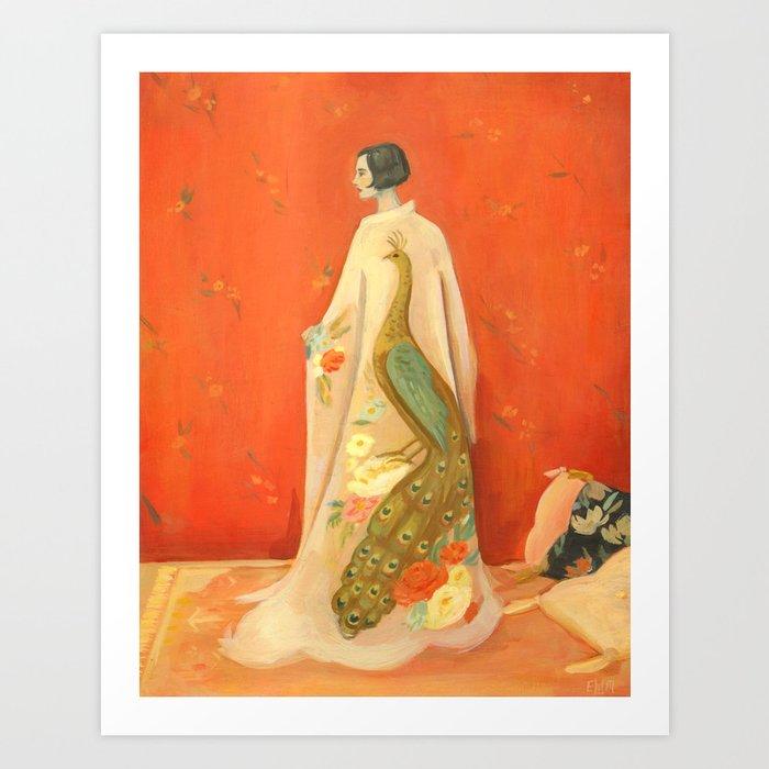 Peacock Kimono Kunstdrucke