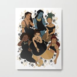 Black Magic Metal Print