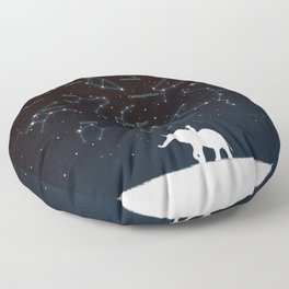 Falling star constellation Floor Pillow