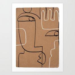 Abstract line art 40 Art Print