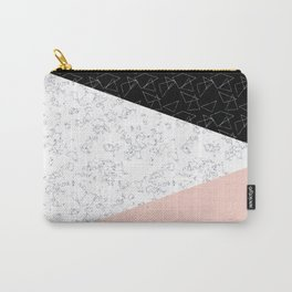 Patchwork pink and marble Carry-All Pouch