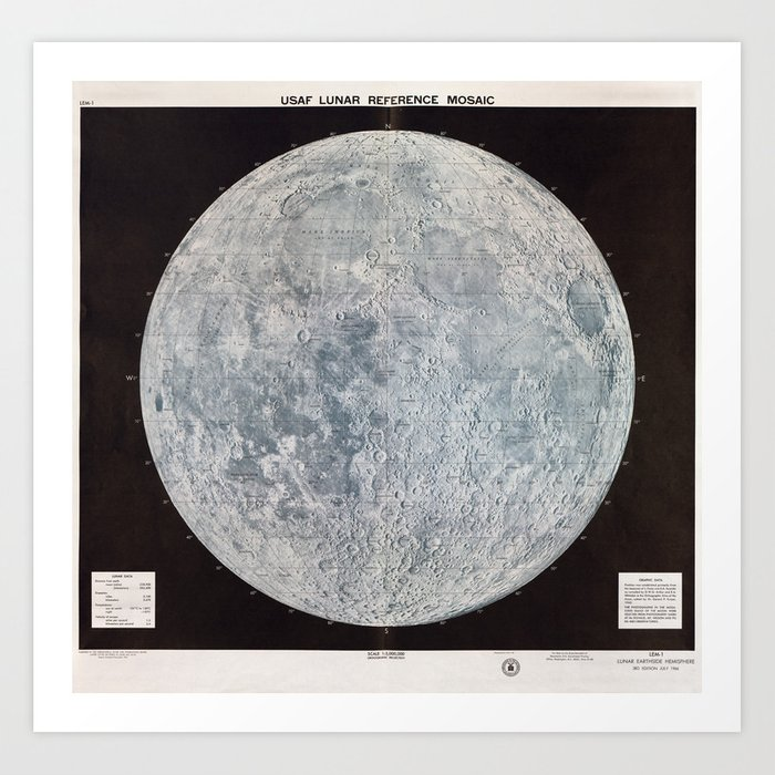 Vintage Lunar Moon Map, 1960s Art Print on ganymede map, neptune map, titan map, surreal map, pluto map, saturn map, sun map, earth map, neil armstrong, lunar cycle map, blue moon, jupiter map, uranus map, outland map, star map, mercury map, io map, statue map, the ship map, solar system, microscope map, mars map, black hole map,