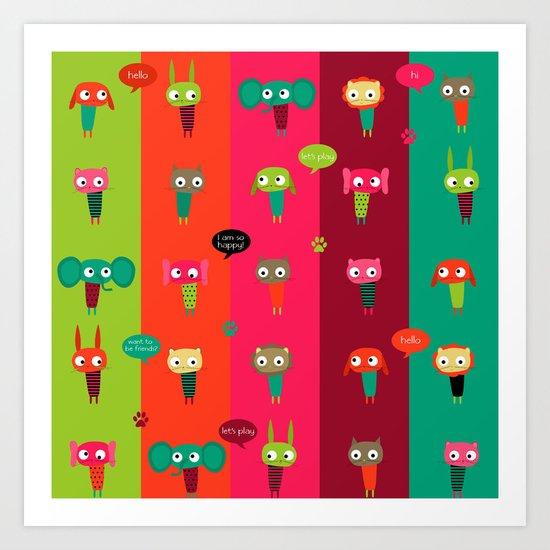Little friends Art Print