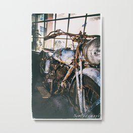 Vintage Indian Motorcycle Metal Print