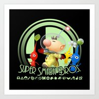 super smash bros Art Prints featuring Olimar - Super Smash Bros. by Donkey Inferno