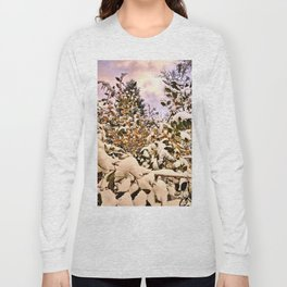 Fresh Snow On Colored Leaves Long Sleeve T-shirt