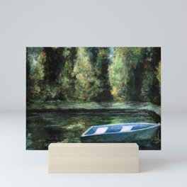 Rowboat and Reflections on the Water Mini Art Print