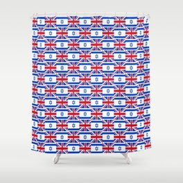 Mix of flag : Israel and uk Shower Curtain