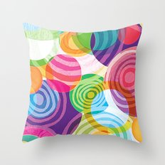 Circle-licious Sweetie Throw Pillow
