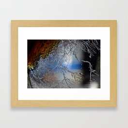 Crystal growth Framed Art Print