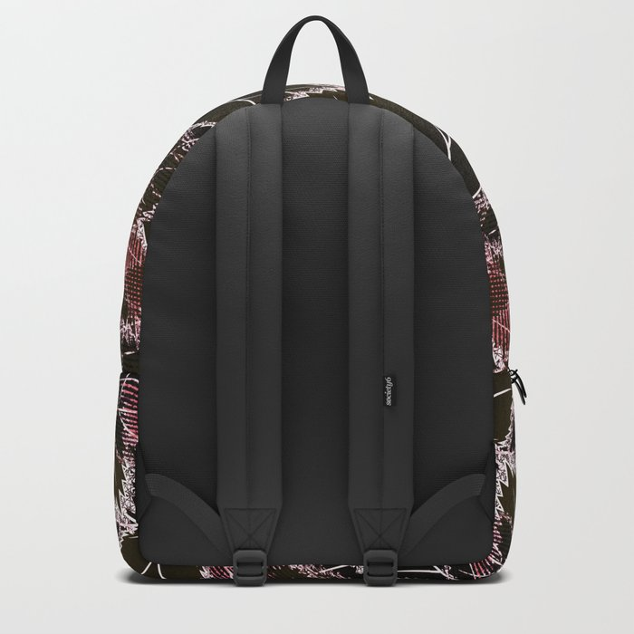 Bright leaves on a black background. Backpack