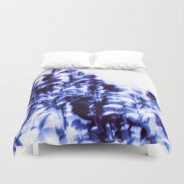Impressionist leaves ~ indigo series 1 Duvet Cover