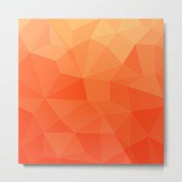 Gradient between Pure Red and Orange Metal Print