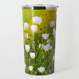 White tulips in buxus arrangement Travel Mug