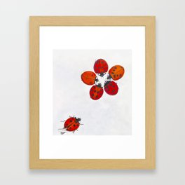 Ladybug meeting Framed Art Print