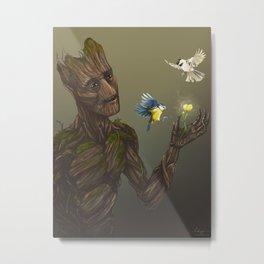 Groot with birds Metal Print