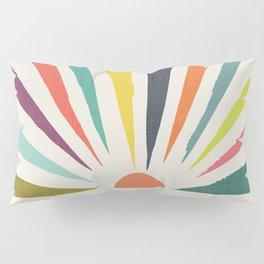 Rainbow ray Pillow Sham