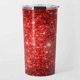 GalaXy : Red Glitter Sparkle Travel Mug
